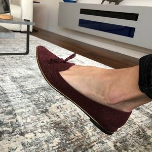 Report Perforated Tassel Flats With Gold Accents